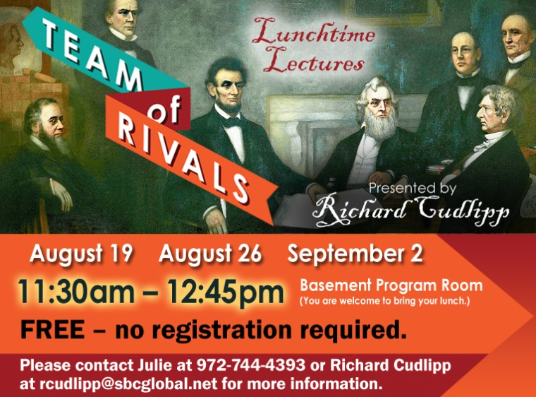 Info channel LL Team of Rivals Richard Cudlipp