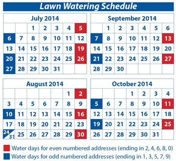 Revised Water Schedule