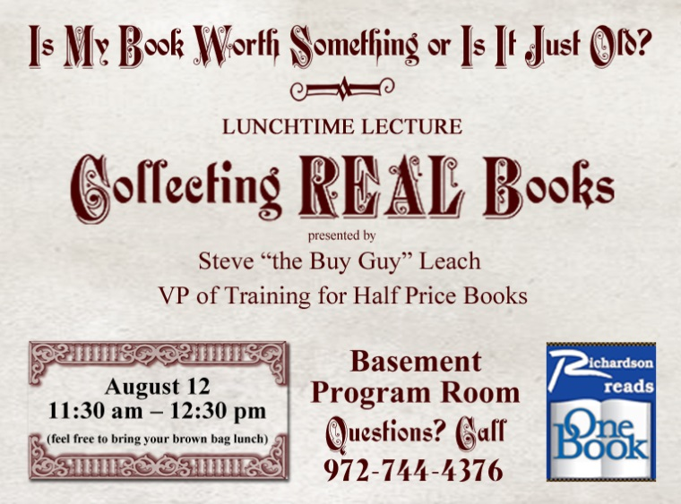 book worth something or just old Steve the buy guy leach