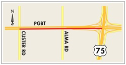 Eastbound PGBT Closure