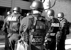 Photo of SWAT Team with medic