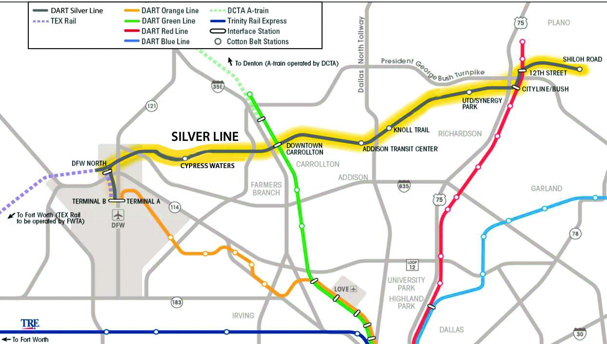Cotton Belt Rail Line Richardson Tx