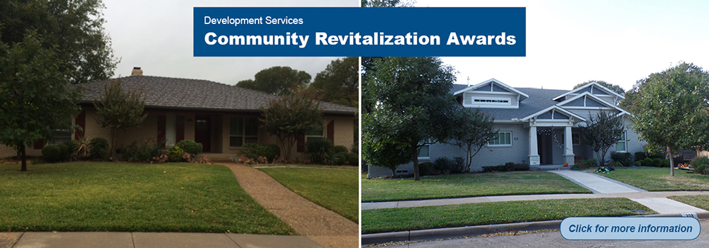 Development Services clickable banner - Community Revitalization Awards