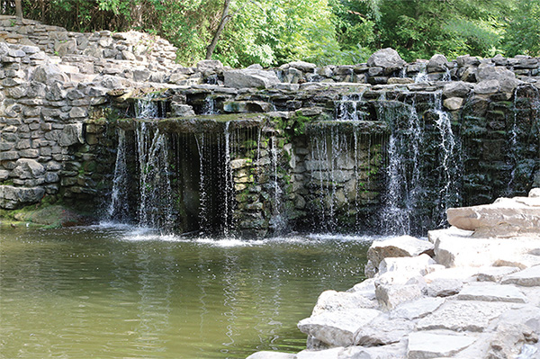 Image of the waterfall at Prairie Creek Park