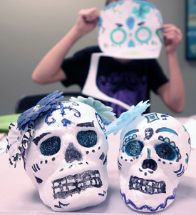 Sugar-Skull-Art-at-Library