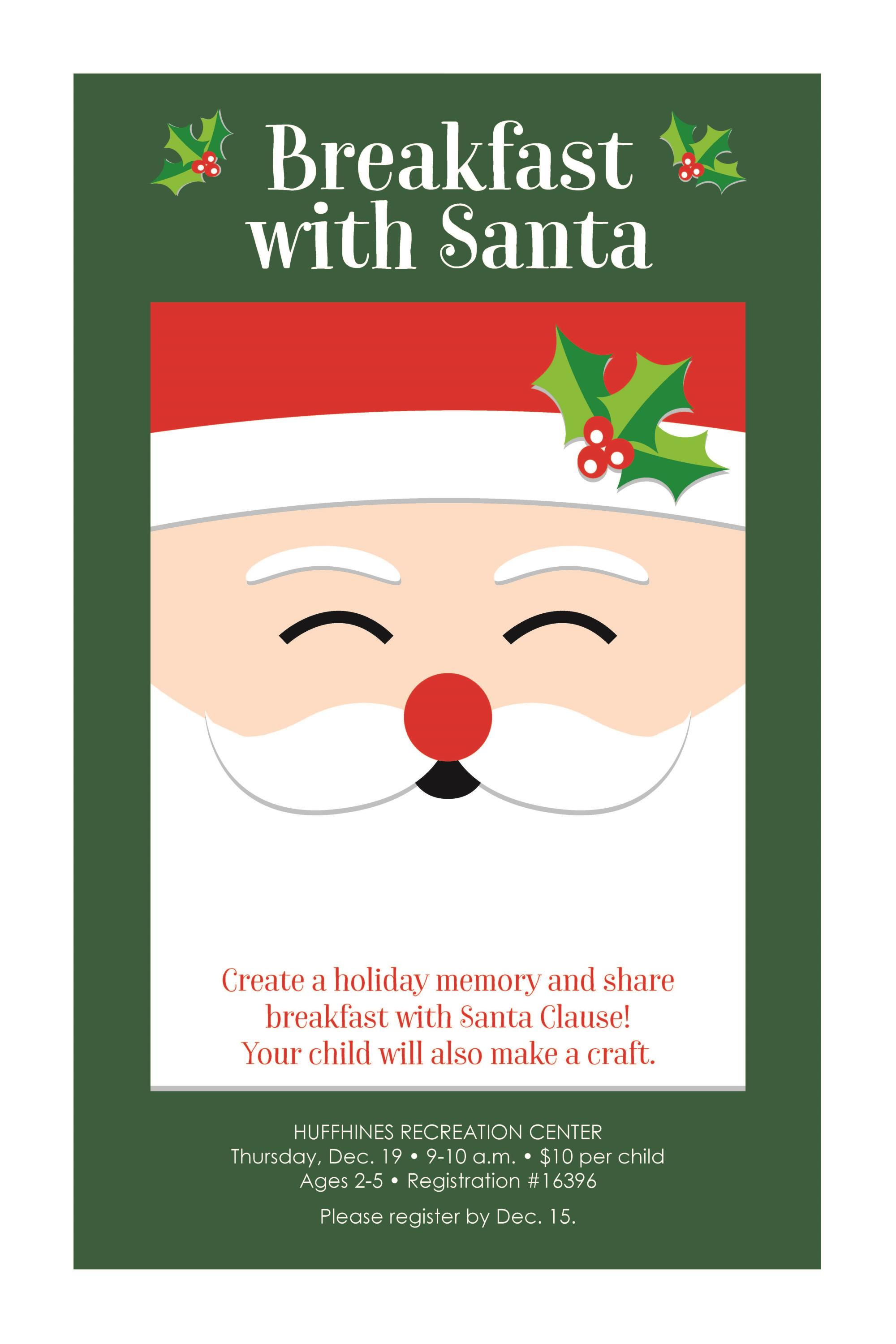 COR Huffhines . Breakfast with Santa . Lit Stand Poster