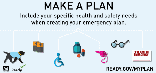 Include Health and safety needs as you prepare